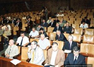 In sala de plen la Senat, 2001