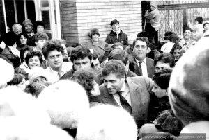 Inceputul politicii, Petre Roman la Slobozia, februarie 1992