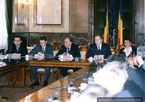 Intalnire cu Ion Iliescu, 2002, impreuna cu grupul PD din Senat